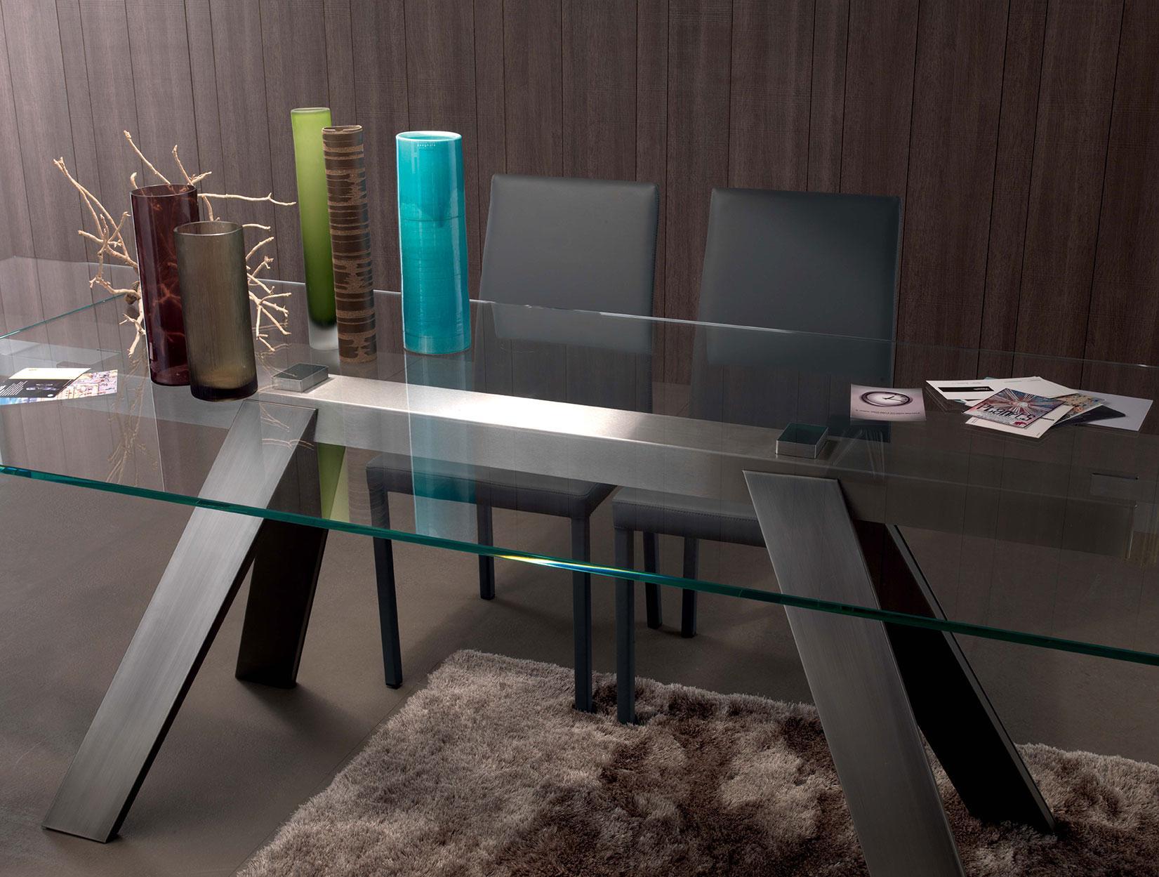 arredamento casa ufficio on line moderno di lusso 2015 design web made in italy tavolo allungabile vetro temperato trasparente prezzi cristallo