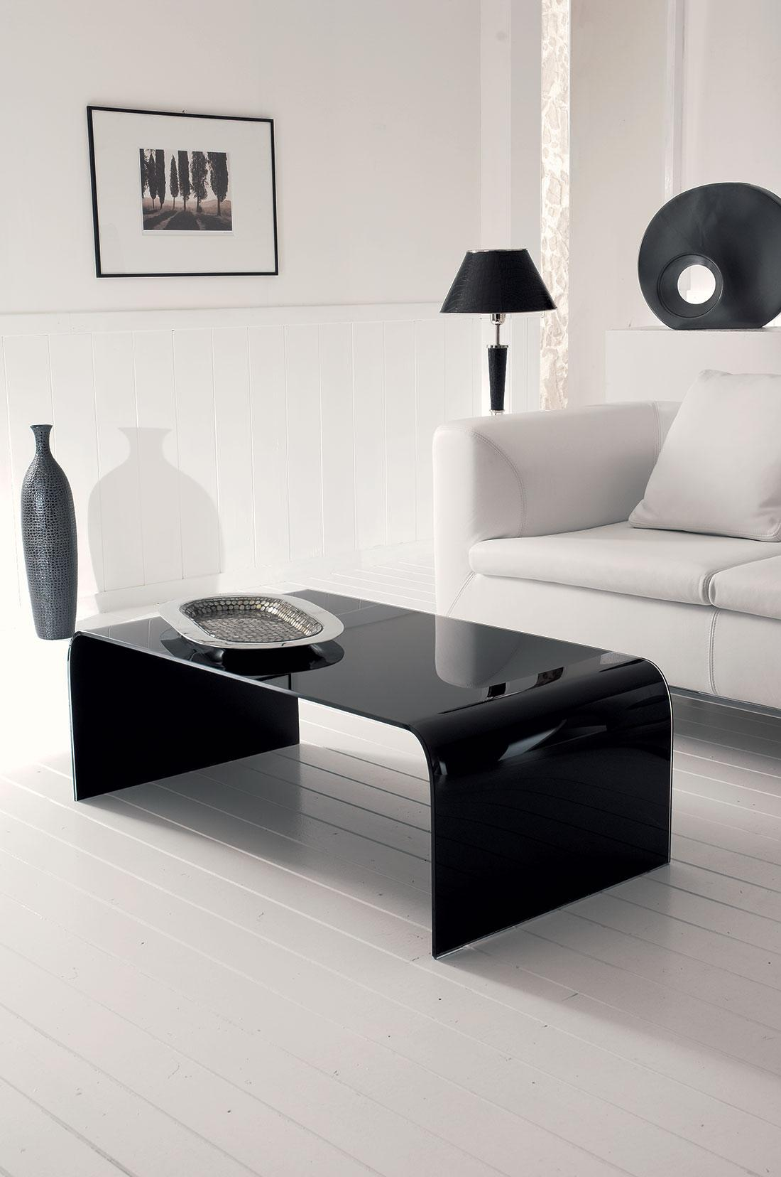 titano table basse en verre courb idd. Black Bedroom Furniture Sets. Home Design Ideas