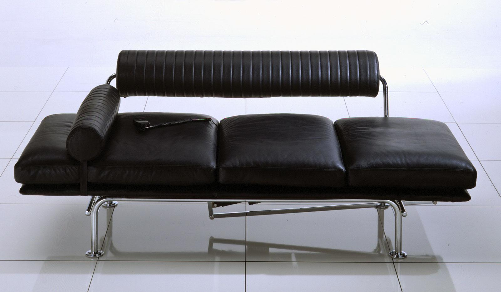 up down powered sofa chaise longue leather covered idd. Black Bedroom Furniture Sets. Home Design Ideas