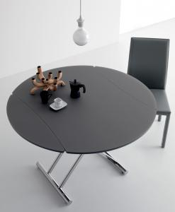 Up and Down table ronde transformable - maison bureau salon table basse réglable en hauteur