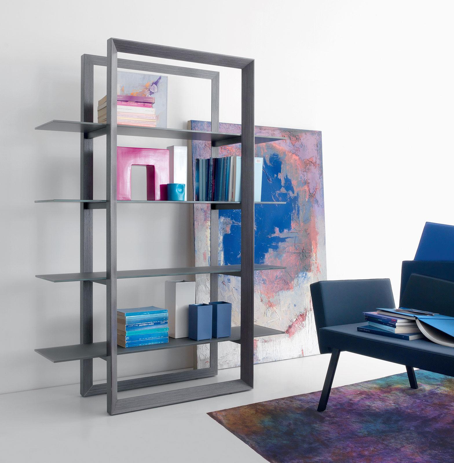 Librerie e mensole bacheca libreria etagere a muro in for Planimetrie delle case con struttura in metallo