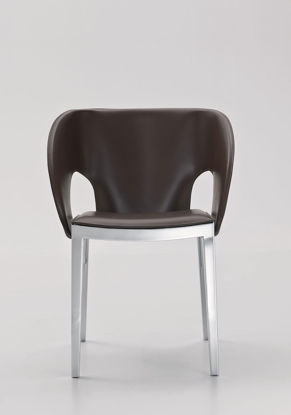 sedia Alessandro Dubini casa ufficio bianca prezzo arredamento on line moderno di lusso 2017 design inspiration web made in italy cuoio pelle legno noce