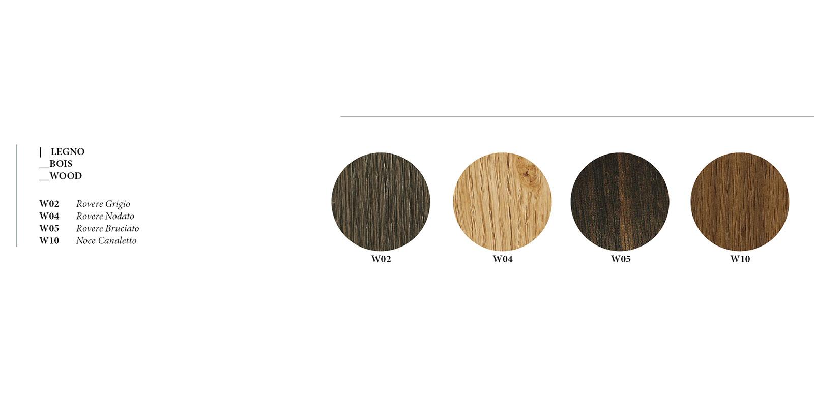 W Wood colour choice