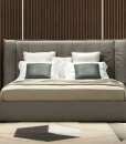 Wind is an original and elegant leather bed with moving headboard. All European or American sizes available. Movement storage base. Free home delivery.