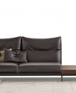 Wolf linear leather sofa