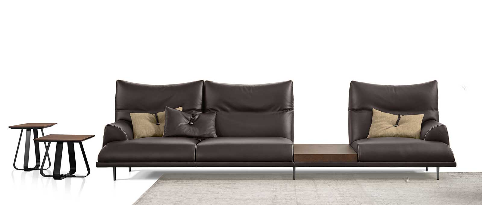- Wolf Linear Leather Sofa Shop Online Italy Dream Design