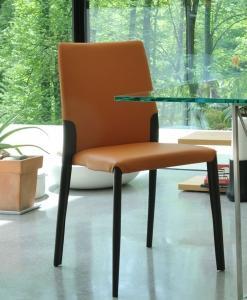 Chaise en cuir, chaise blanche de cuisine grise originale taupe visiteur ameublement design haut de gamme design d intérieur en ligne cuir