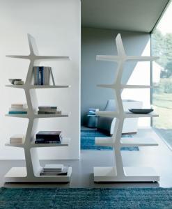 libreria biblioteca arredamento casa ufficio on line moderno di lusso 2015 design inspiration web made in italy mensole legno noce frassino centrale