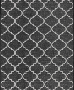 Geometrical patterns on a black background. Complete your furniture with a solid and beautiful outdoor rectangular rug. Online shopping and free delivery.