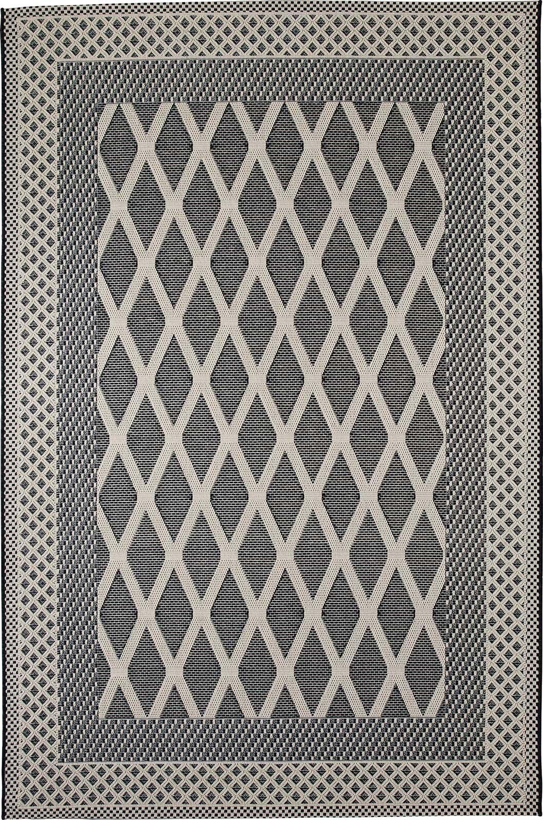 Zoe tappeto da esterno a losanghe italy dream design - Tappeto grigio chiaro ...