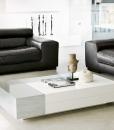 Table basse rectangulaire design avec compartiment de rangement. Vente en ligne de meubles design haut de gamme made in italy.