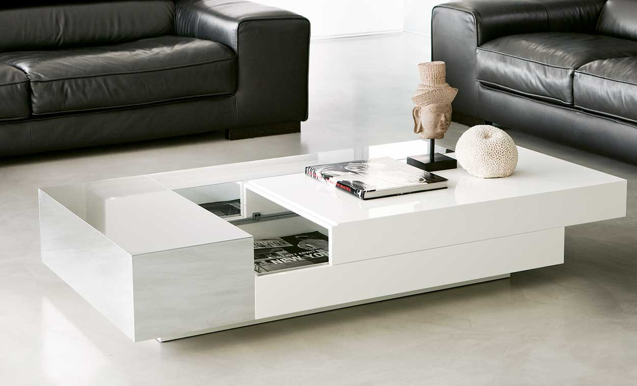 Apollo Rectangular Coffee Table With Storage Compartment Idd