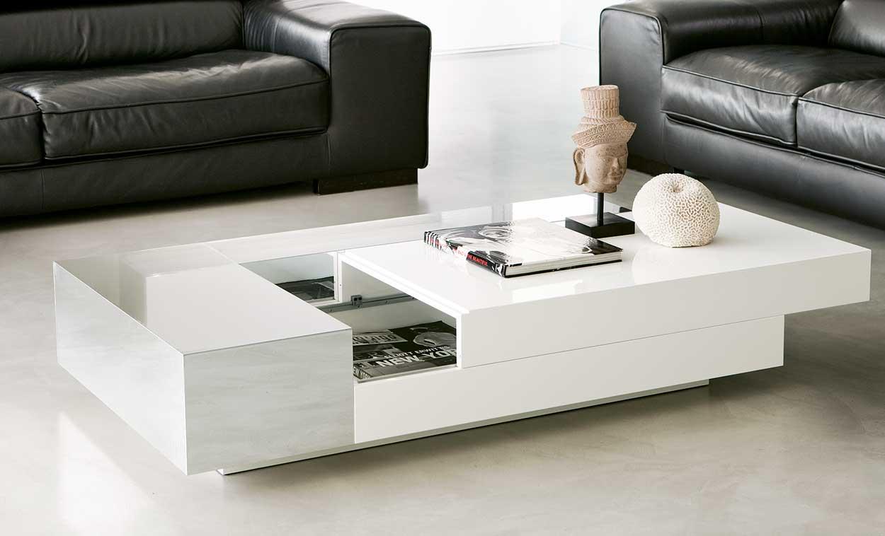 Apollo tavolino rettangolare con vano contenitore italy dream design