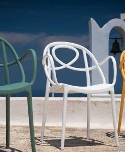 sedia impilabile polipropilene giardino arredamento casa / ufficio on line moderno di lusso 2015 sedia bianca prezzo design made in italy contemporaneo
