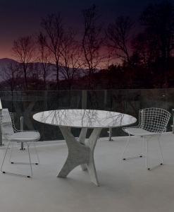 tavolo murano vetro rotondo arredamento casa ufficio on line moderno di lusso design inspiration web made in italy temperato cristallo trasparente prezzi