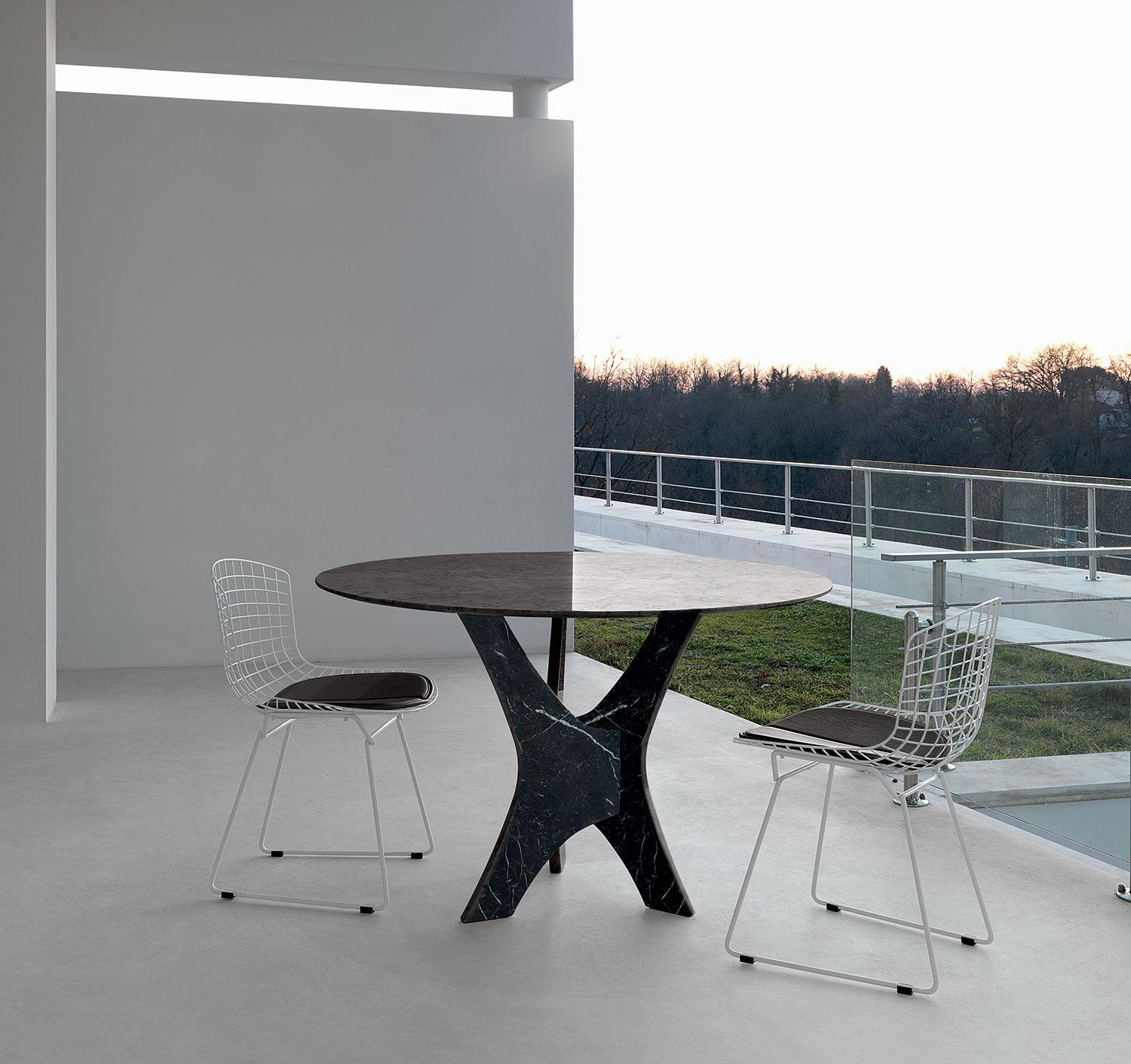 Italian Furniture Stores: Brera Round Glass Dining Table