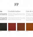 Echantillons Cuir de Vachette FP 2,8-3,0 mm