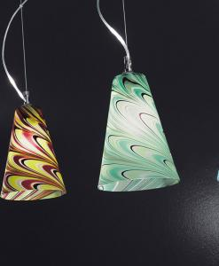 sospensione vetro di Murano lampadario contemporaneo Murano acquisto online design vetro soffiato