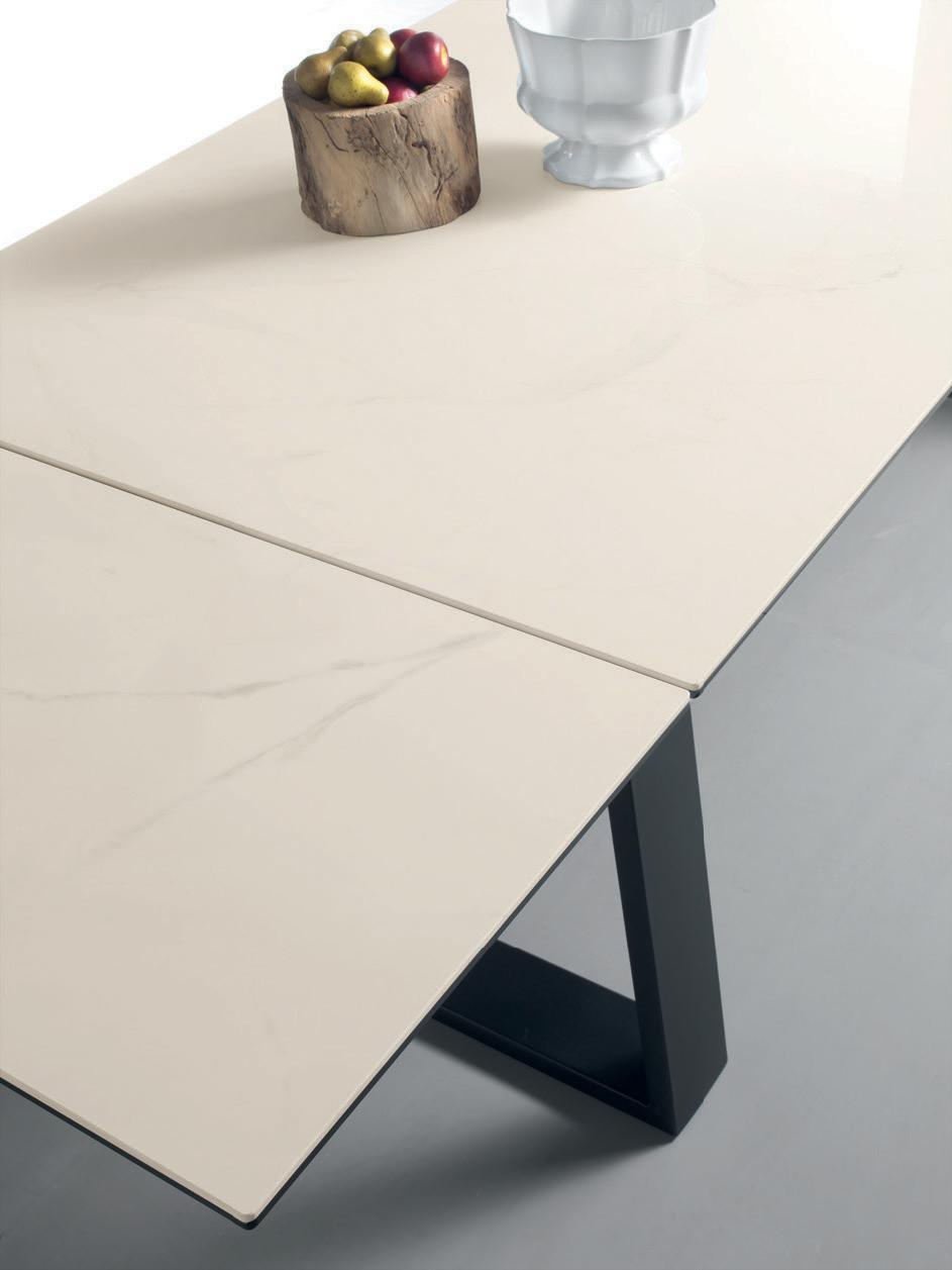 Ceram tavolo allungabile con piano in ceramica   italy dream design