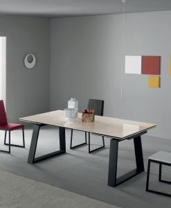 rallonges Table extensible rectangulaire design haut de gamme luxe maison moderne en ligne meuble vente site qualité salle manger 10 personnes ceramique