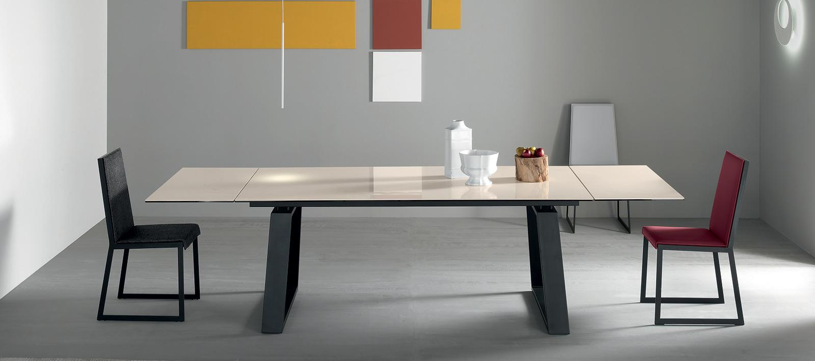 Table en c ramique extensible vente en ligne italy for Table moderne a rallonge