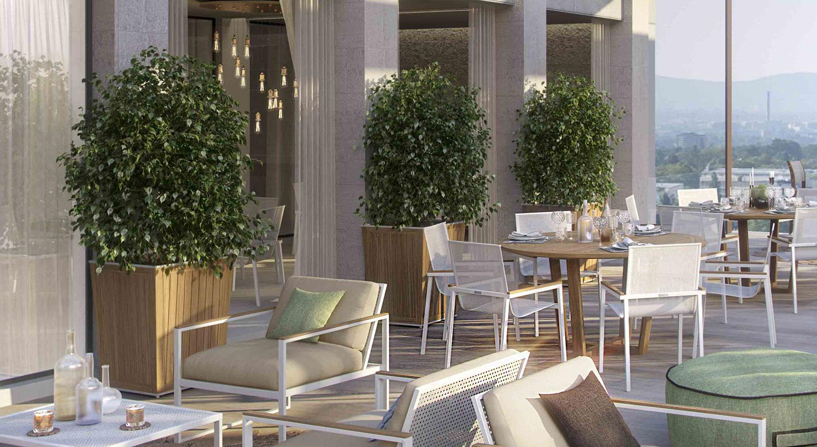 fioriera legno alta balcone davanzale interni appartamento design esterno grande moderna online quadrata unopiu verticale vaso arredamento made in italy