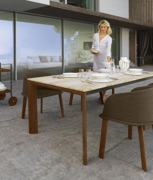 Clariss table de repas rectangulaire d'extérieur
