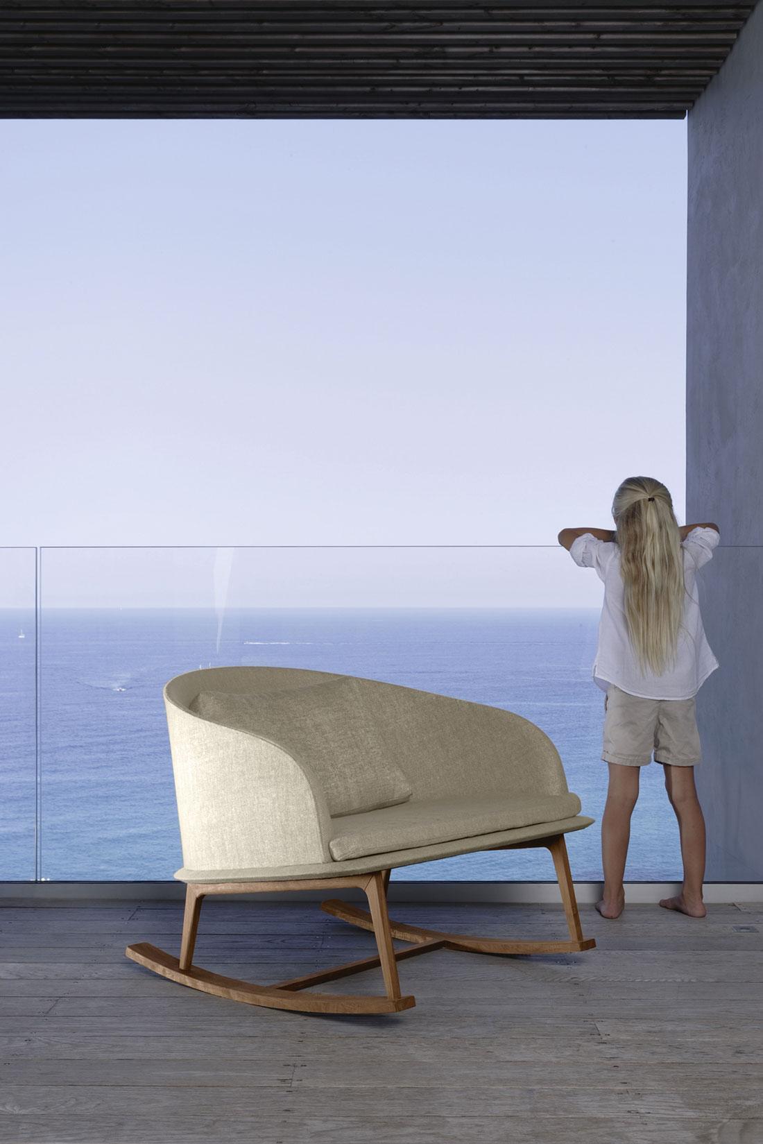 Clariss poltrona a dondolo da esterno italy dream design - Dondolo da giardino prezzi ...