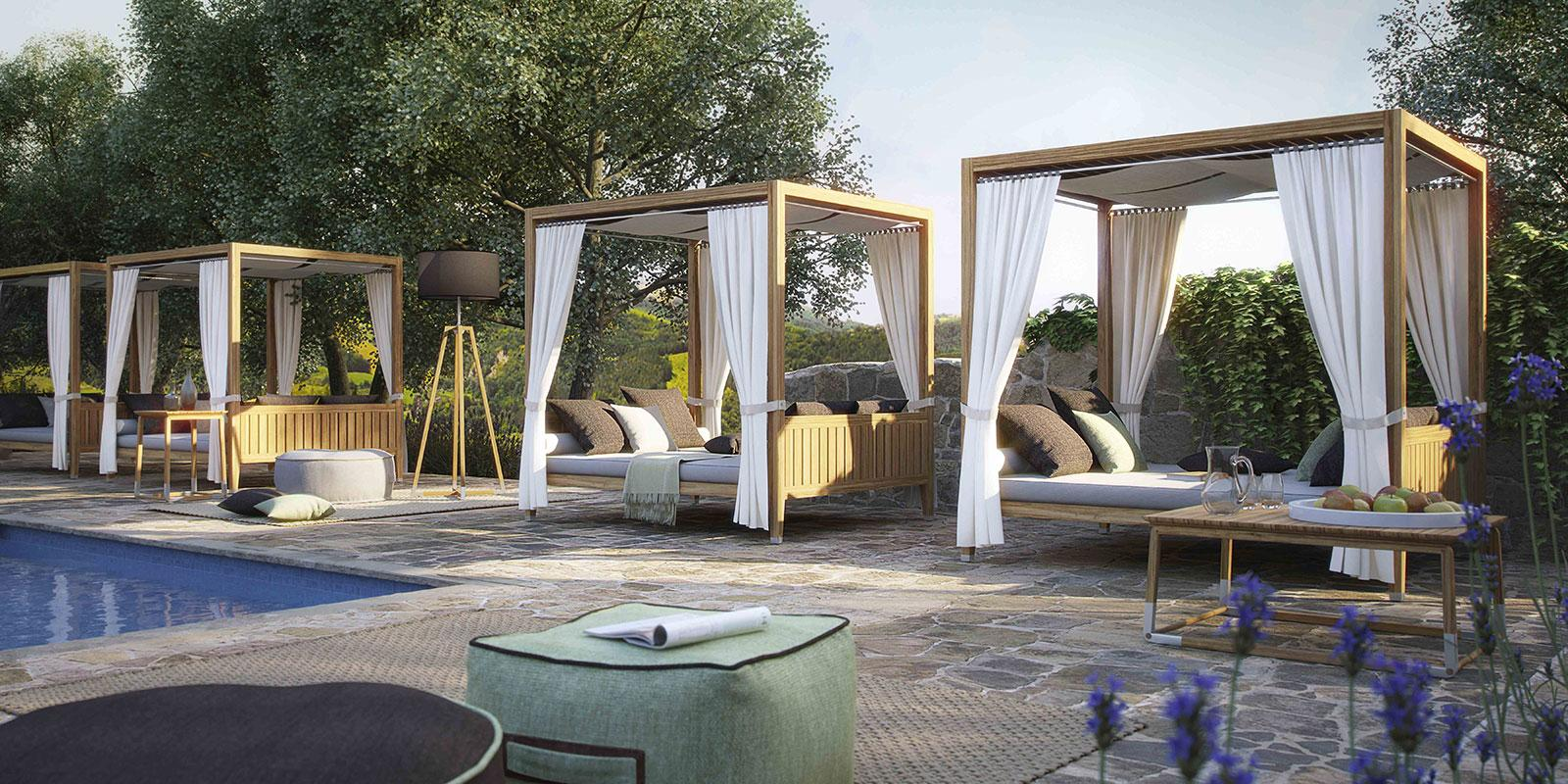 Day Bed Italian Luxury Outdoor Daybed Patio Daybed