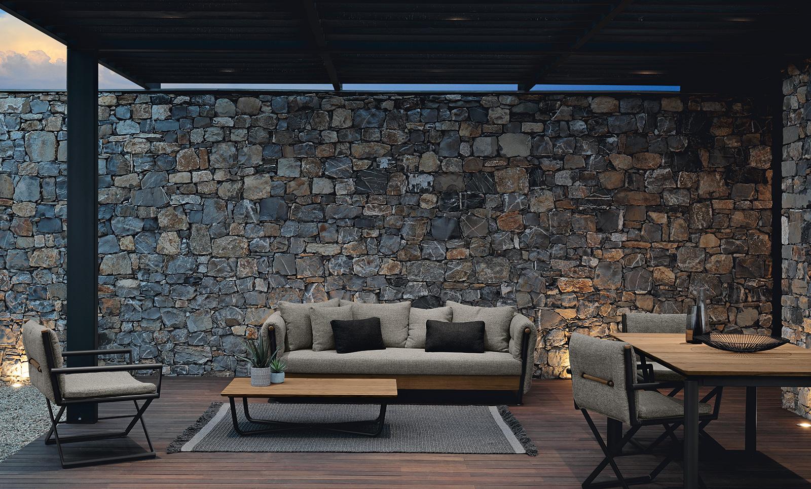 Canapé d'extérieur 3 places. Meubles design et modernes pour le jardin. Achetez en ligne nos salons de jardin haut de gamme made in Italy. Livraison gratuite.