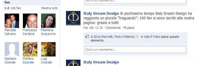 facebook 100 per 100 italy dream design