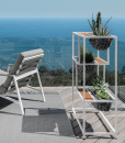 Outdoor aluminium planter. Planter design for garden and terrace. Outdoor design furniture made in italy.