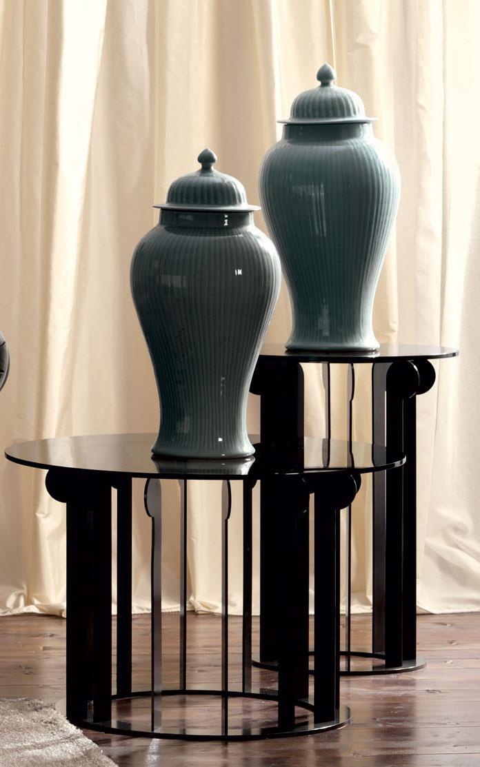 Regis tavolino in vetro e metallo   italy dream design