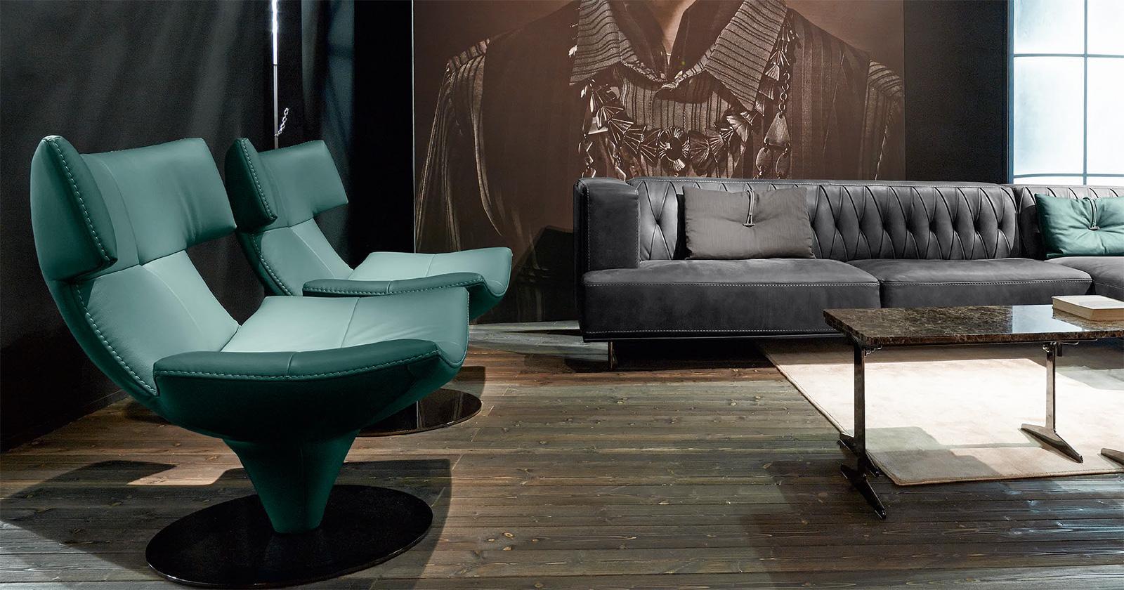 Modern swivel armchair - Armchair Back Support Ergonomics High Back Headrest Leather Modern Online Swivel Stores Shops Design Sale Italia