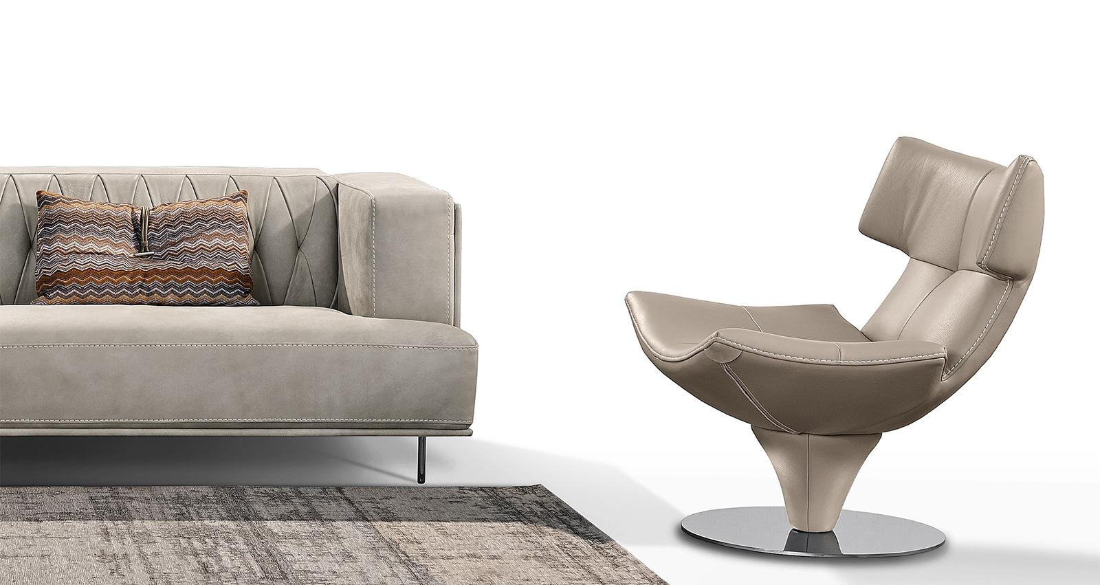 Harley Modern Swivel Leather Armchair | Shop Online ...