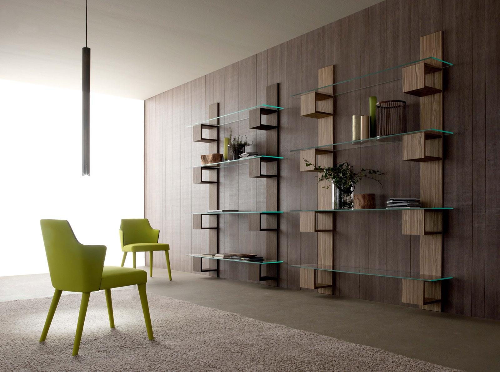 infinity biblioth que en bois et verre idd. Black Bedroom Furniture Sets. Home Design Ideas