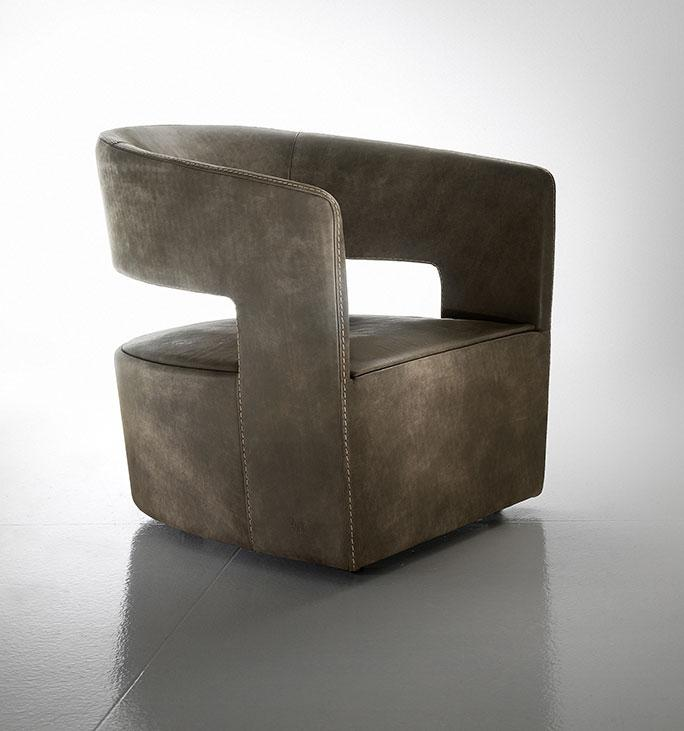 Jade Is A Leather Swivel Armchair Ideal For Your Home Or Office. Its Leather  Covering