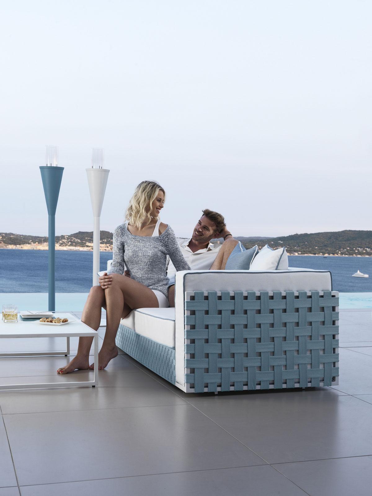 Jane divano da esterno in alluminio - Italy Dream Design