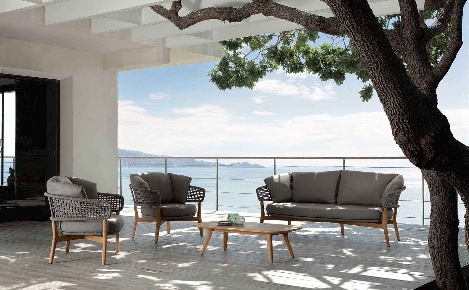 Lem salon de jardin en teak et aluminium