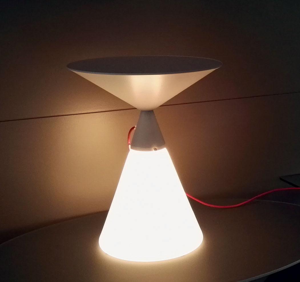 Luciole tavolino in vetro e metallo. - Italy Dream Design