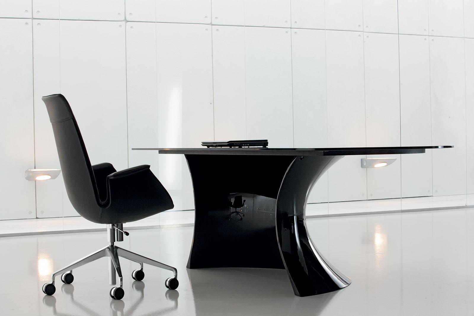 Ola total black scrivania direzionale italy dream design for Design ufficio scrivania