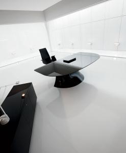 scrivania manageriale arredamento casa ufficio on line moderno di lusso 2015 design web made in italy ufficio direzionale vetro originale cristalplant
