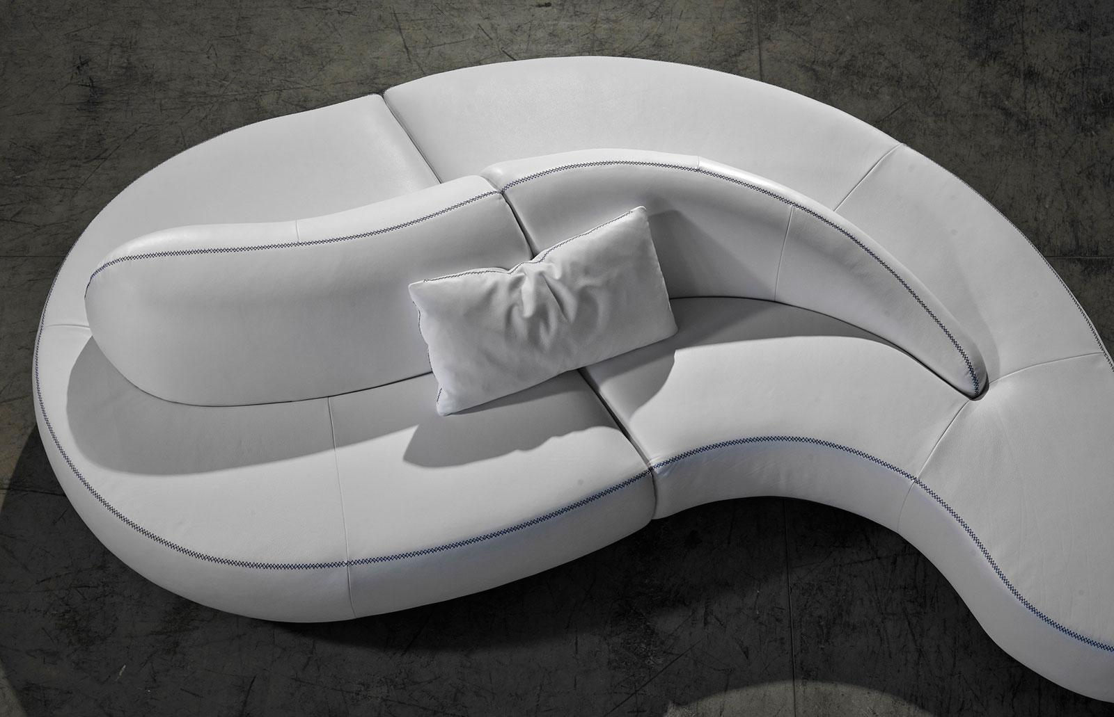 Divano Componibile Curvo : Onda divano curvo in pelle 317 x 182 cm italy dream design