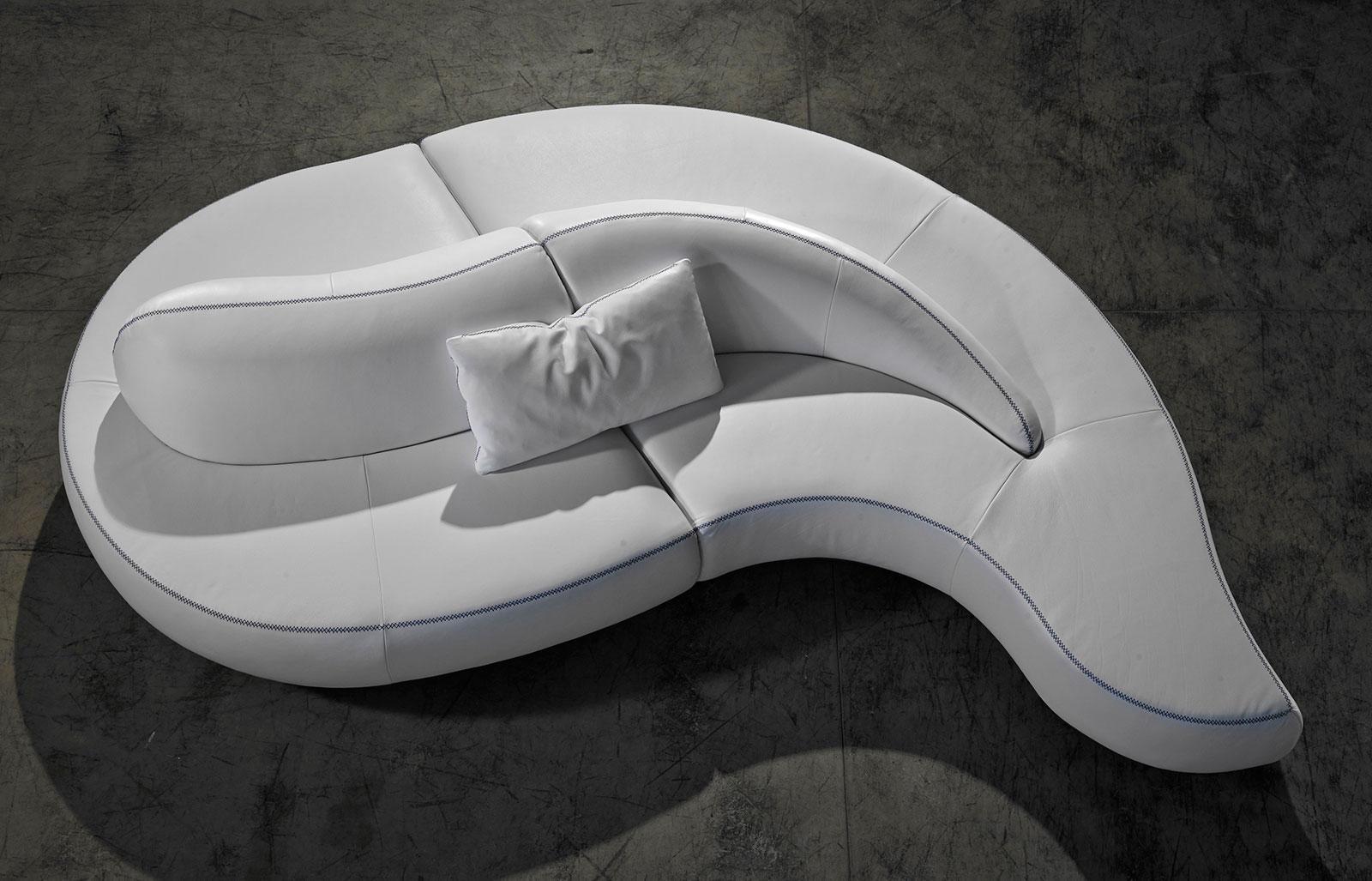 onda divano in pelle 317 x 182 cm. - italy dream design - Soggiorno Angolare Componibile 2
