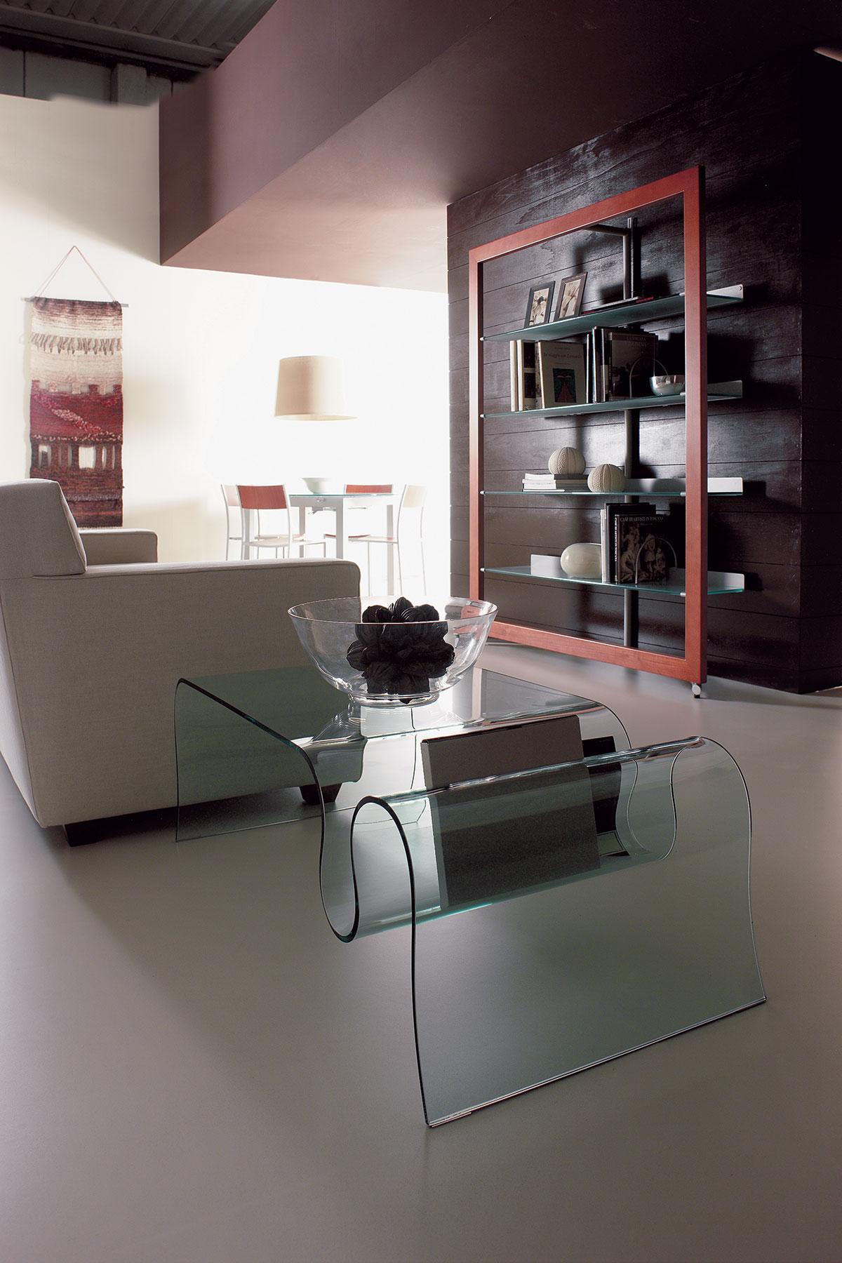onda table basse en verre courb idd. Black Bedroom Furniture Sets. Home Design Ideas