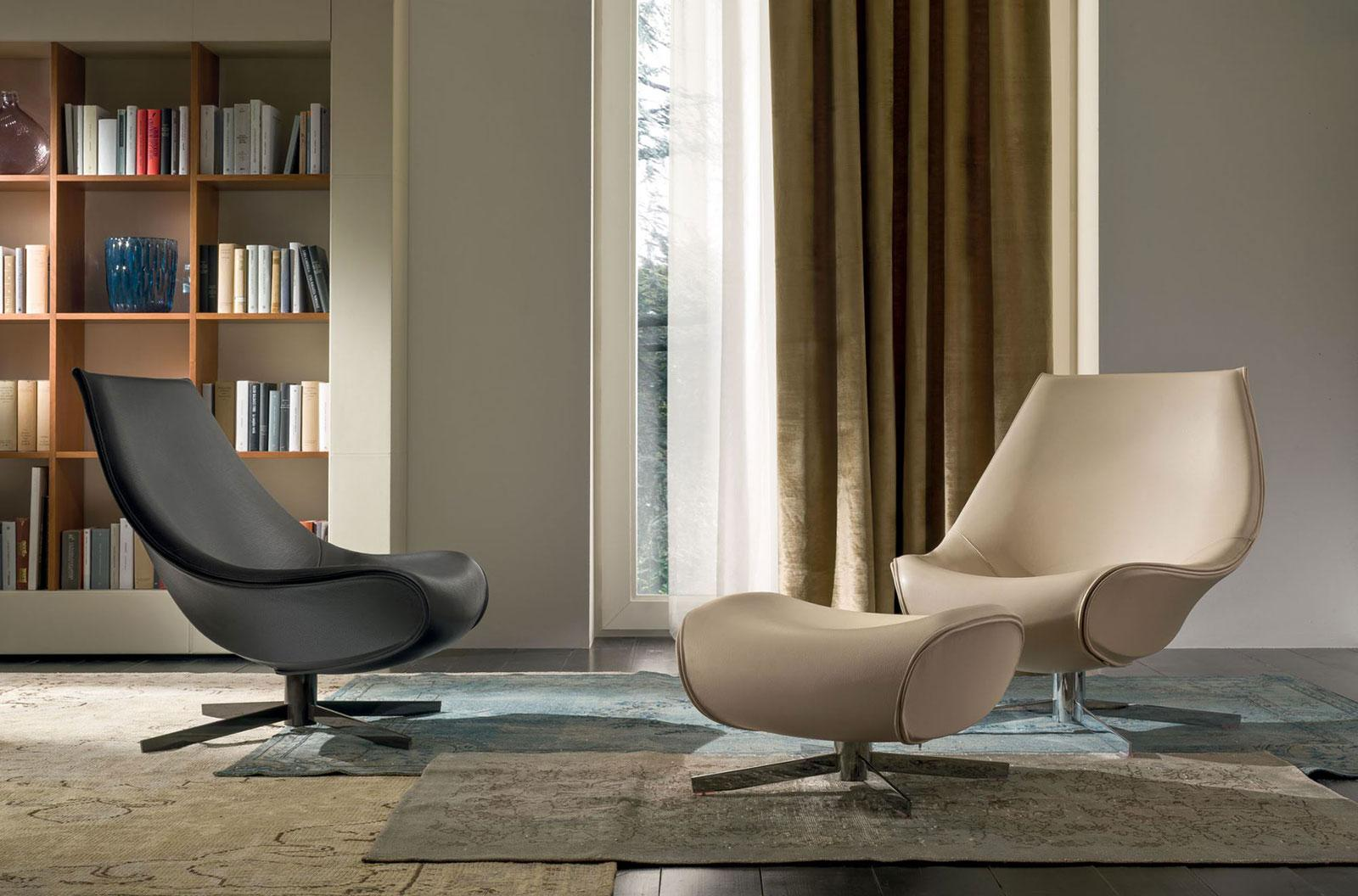 Poltrona Relax Design.Oyster Relax Armchair Completely Covered In Saddle Leather