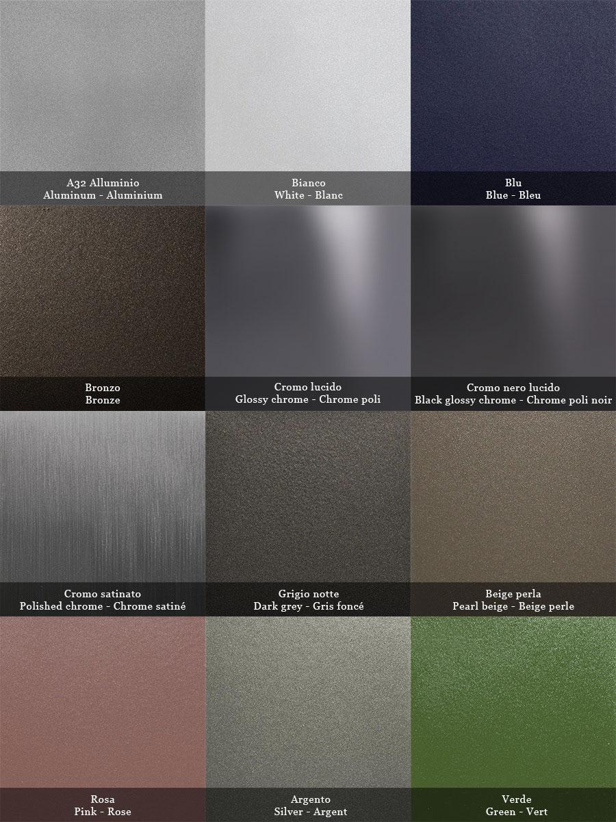 Palette colori per metallo