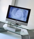 Steel and clear glass are the two base modules creating a stunning TV stand. Paolo Benevelli design. Online shopping and free home delivery.
