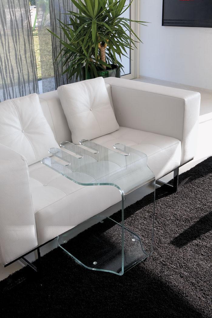 President tavolino in vetro curvo - Italy Dream Design