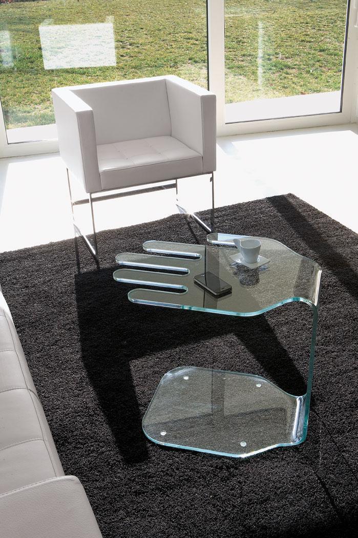 President tavolino in vetro curvo   italy dream design